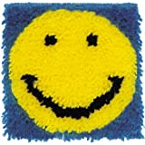 Spinrite Wonderart Latch Hook Kit, 8 by 8-Inch, Smiling Face