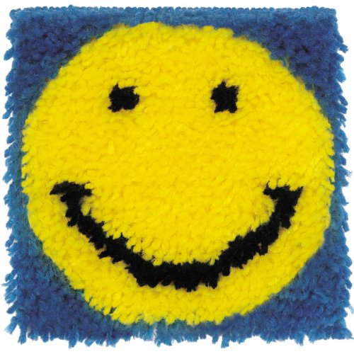 Spinrite Wonderart Latch Hook Kit, 8 by 8-Inch, Smiling Face by Spinrite