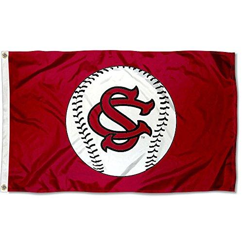College Flags and Banners Co. South Carolina Gamecocks Baseball Logo Flag