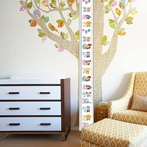 Growth Chart Height Growth Chart to Measure Baby, Child, Grandchild Kids Ruler Height Measure Chart Wall Decoration Growth Ruler Gift (Bear)