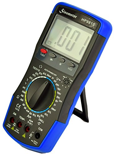 Sinometer HP9810 Automotive Digital Multimeter with Thermometer and Carrying Case by Sinometer (Image #2)