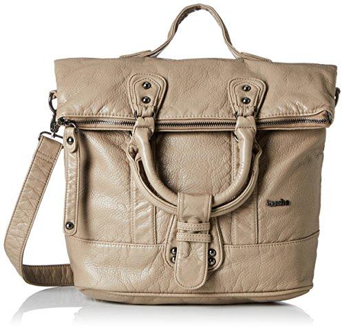 Boscha Zip Bag/Shopper Bag - cartera Mujer Beige (Light Beige)