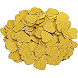 CCINEE Glitter Gold Heart Confetti for Wedding Bachelorette Party Decoration Pack of 200