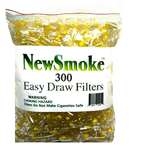 NEW SMOKE 300 Disposable Cigarette Filters - Bulk Economy Pack 300 Filters