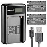 Neewer® Micro USB Battery Charger + 2-Pack 2600mAh NP-F550/570/530 Replacement Batteries for Sony HandyCams, Neewer Nanguang CN-160,CN-216,CN-126 LED Light, Polaroid On-Camera Video Lights