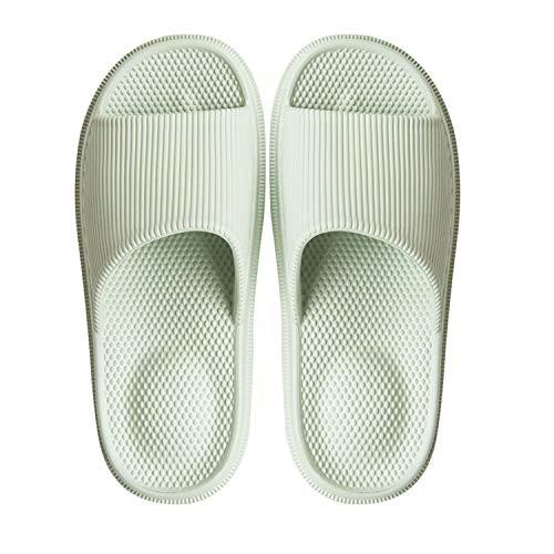 - WYSBAOSHU Massage Foam Bathroom Slippers Non-Slip Spa Shower Sandal for Mens/Womens(8.5-9 B(M) US Women,Green)