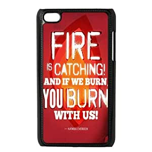 the Case Shop- Customizable The Hunger Games Movie Hard Plastic Case Cover For IPod Touch 4th , p4xq-552