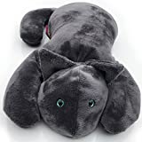 Weighted Cat by Creature Commforts - Lap Pad - for Kids, Teens, Adults, Seniors - Soft, Calming Fabric - Heavy Sensory Stuffed Animal Lap Blanket - Made in USA (Grey)