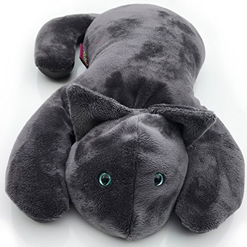 Weighted Cat by Creature Commforts - Lap Pad - for Kids, Teens, Adults, Seniors - Soft, Calming Fabric - Heavy Sensory Stuffed Animal Lap Blanket - Made in USA (Grey) by Creature Commforts