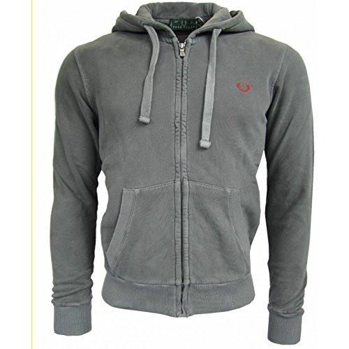 Sudadera Fred Perry Hombre Men Jumper camiseta cremallera capucha Gris gris: Amazon.es: Ropa y accesorios