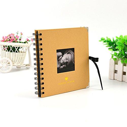 [해외]스크랩북 포토 앨범 베이비 픽처 DIY 포토 앨범 / Scrapbooking Photo Album for Baby Pictures DIY Photo Album (Yellow)