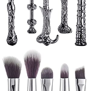 Harry Potter Inspired Wand Make Up Brush Set - Magic Wizard Cosmetic Set