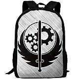 OIlXKV Brotherhood Of Steel Ash Hip-hop Flat Print Custom Casual School Bag Backpack Multipurpose Travel Daypack For Adult