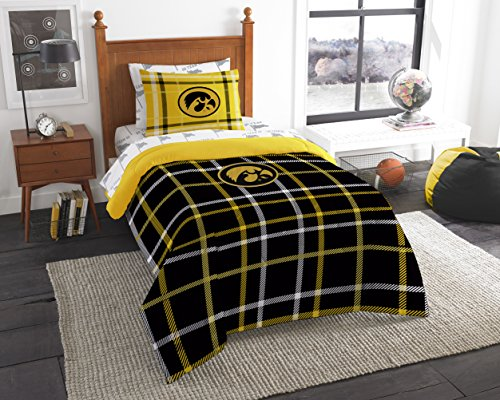 Officially Licensed NCAA Iowa Hawkeyes Soft & Cozy 5-Piece Twin Size Bed in a Bag Set