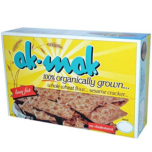 Ak-Mak, Whole Wheat Flour Sesame Cracker, 4.15 oz (118 g) Ak-Mak, Whole Wheat Flour Sesame Cracker, 4.15 oz (118 g) - 2pcs Ak Mak Crackers