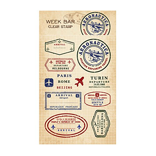 Originals Postmark (Squirrels and Frogs Retro Clear Stamps for Trip Journal,DIY Album and Scrapbooking (Aviation Postmark))