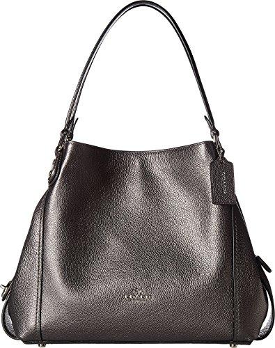 COACH Women's Metallic Leather Edie 31 Sv/Metallic Graphite One Size