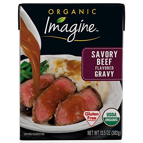 Organic Brown Gravy - Imagine Organic Gravy, Savory Beef, 13.5 oz. (Pack of 12)