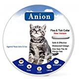 Flea Tick Collar for Dogs and Cats (Grey) - Repel & Prevent Fleas - Pests - Insects - Water Resistant - 8 Month Protection - One Size Fits All(New Version) (20180207-Cat)