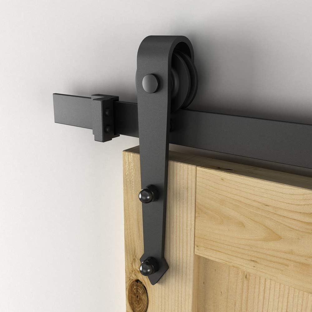 PrimeMatik - Rail guía para Puerta corredera de Color Negro forja rústico de 2m: Amazon.es: Electrónica