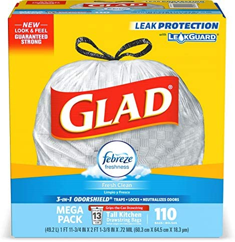 Glad Tall Kitchen Drawstring Trash product image
