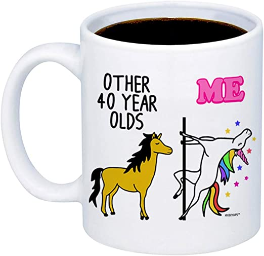 Amazon.com: MyCozyCups 40th Birthday Gift – Taza de café con ...