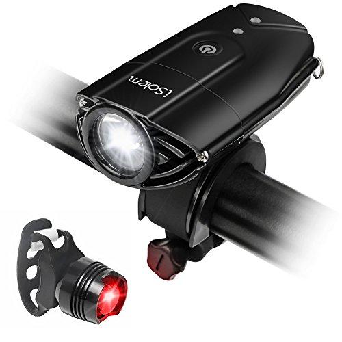 [Touch Sensor Switch] Bike Light, iSolem Rechargeble Super Bright...