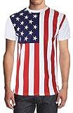 Calhoun Sportswear Mens American Flag Shirt
