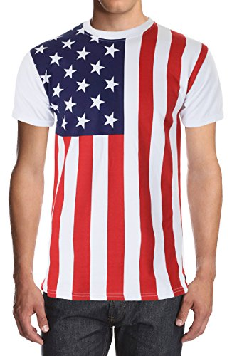 American Flag Solid Back Shirt product image