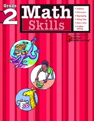 (Math Skills: Grade 2 (Flash Kids Harcourt Family Learning))