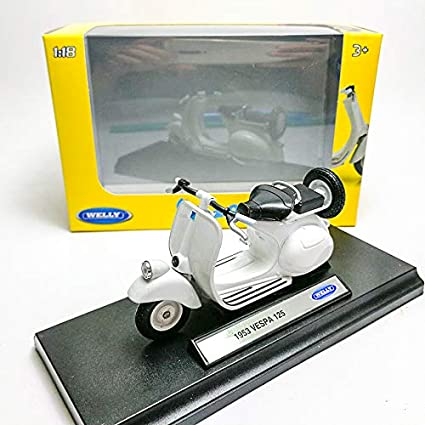 Amazon.com: Welly 1:18 Die-cast 1953 Vespa 125 - Patinete ...
