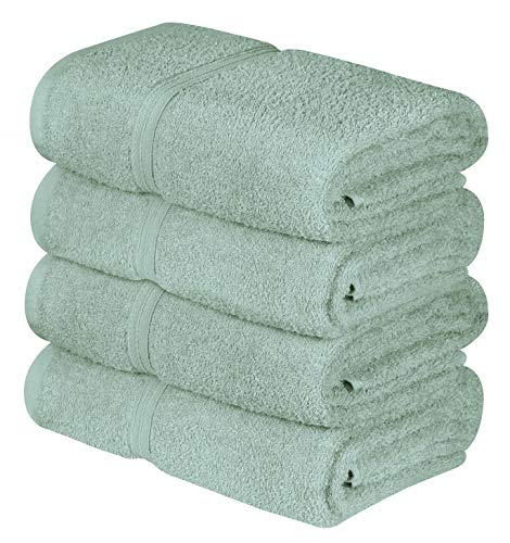 4 Pack Bath Towels 400 GSM (Seafoam Green)