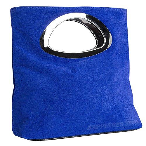 Tote Bag Women's Bag Leather Style Celebrity Royal Wocharm Blue Designer Handbag Ladies Faux Hand UxqARBA