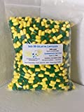 """PurecapsUSA Empty Gelatin Capsules – Size """"00"""" – 1000 Fillable Caps – Green/Yellow Color – Kosher/Halal – Hypoallergenic – GMO Free For Sale"""