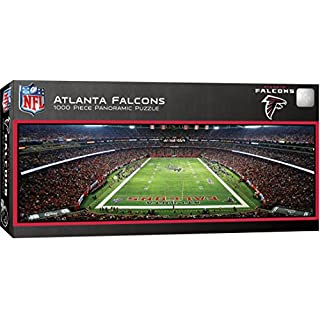 "MasterPieces NFL Atlanta Falcons Stadium Panoramic Jigsaw Puzzle, 1000 Pieces, 13"" x 39"""