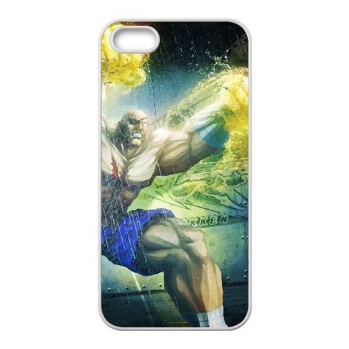 Street Fighter X Tekken 13 coque iPhone 5 5s cellulaire cas coque de téléphone cas blanche couverture de téléphone portable EEECBCAAN03439
