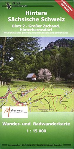 Hintere Sächsische Schweiz - Blatt 2 - Großer Zschand, Hinterhermsdorf: Wander- und Radwanderkarte 1: 15 000