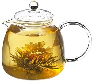 GROSCHE Munich Glass Tea Pot with Included Tea Infuser, 1250 ml (42 fl oz) capacity