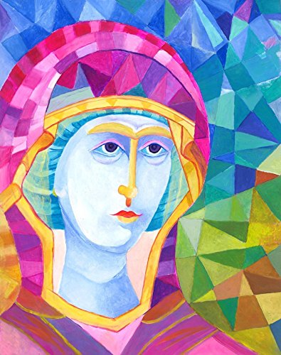 Virgin Mary icon Modern religious art. Polish Madonna painting original artwork catholic art by SmartPolonia