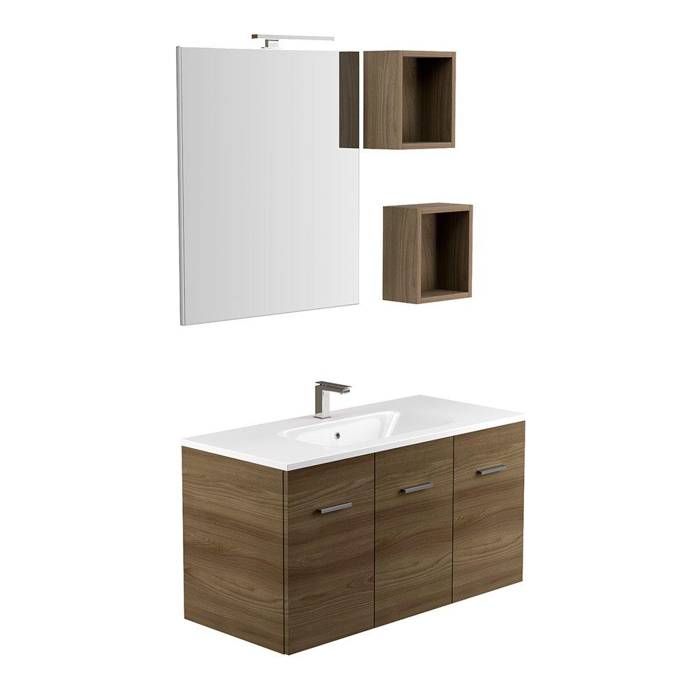 Jindoli Salle De Bain ~ adu avion 04 meuble salle de bains avec lavabo vasque et miroir bois