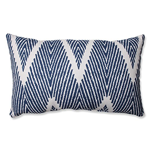 Pillow Perfect Bali Rectangular Throw Pillow, Navy