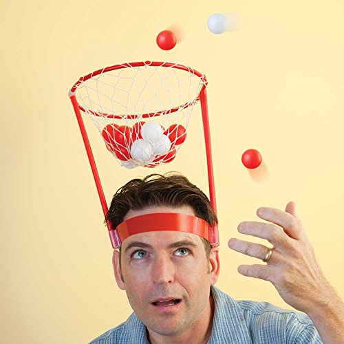 Bits and Pieces - Hilarious Basket Head - Portable Basketball Hoop - Mini Basketball Hoop for Home or Office
