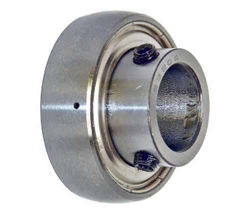 20 Mm Mounted Bearing (SB204 Axle Insert Mounted Bearing, 2 Bolt, 20mm Inside Diameter, Set screw Lock, Steel, Metric)