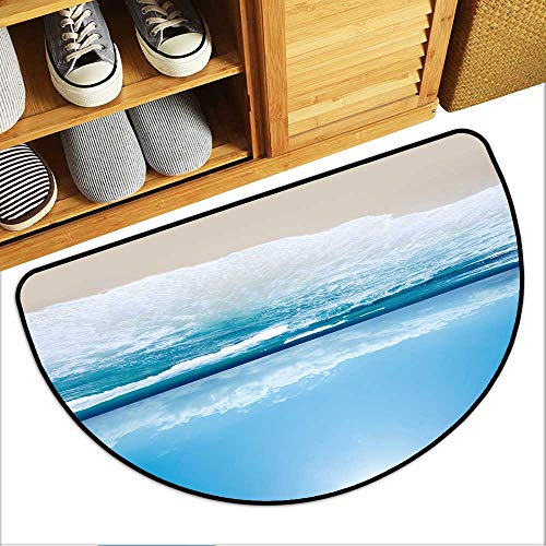 TableCovers&Home Semi-Circular Non-Slip Carpet Gorgeous Australian Beach in Southern NSW Antibacterial Soft Microfiber W31xH19 INCH (Furniture Nsw Outdoor)