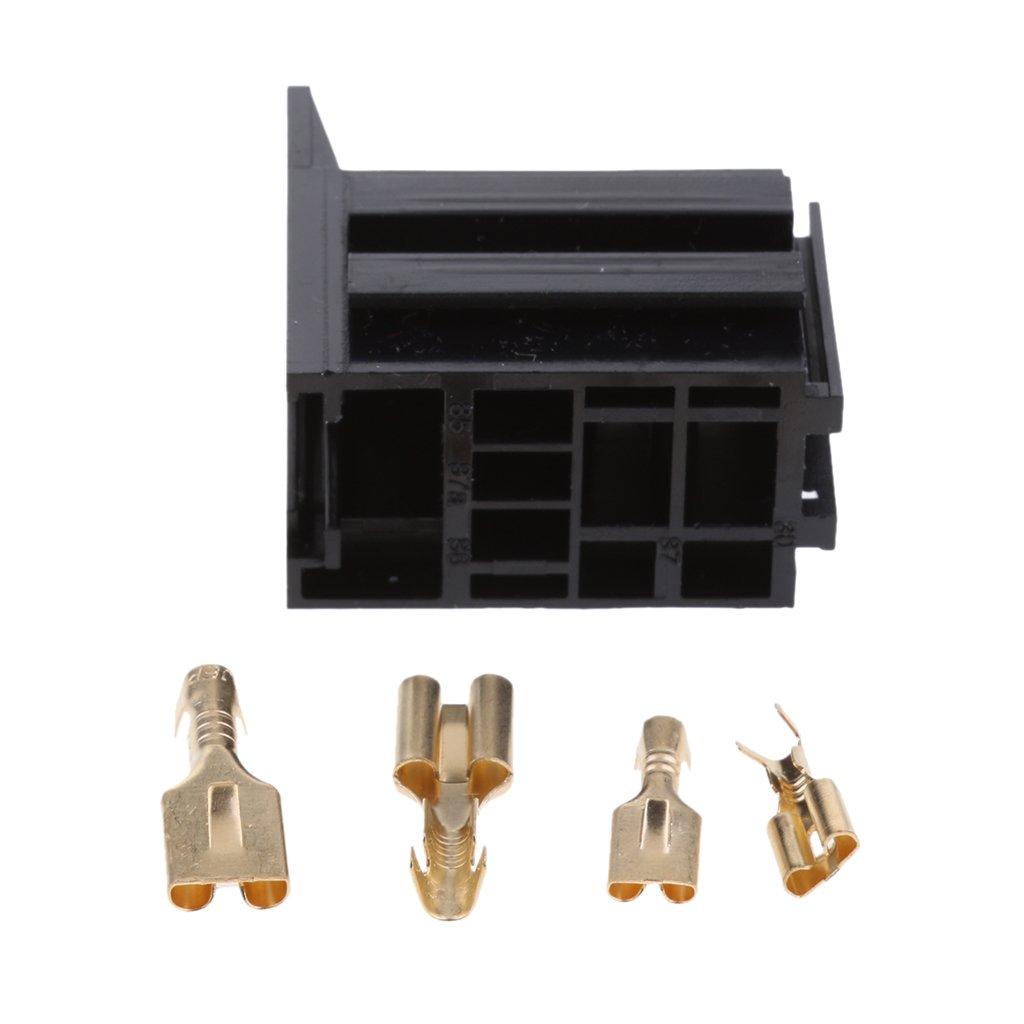 MagiDeal 12V 4 Pin 30 Ampere Kfz Relaissockel Halter Montagesockel Mit Klemmen