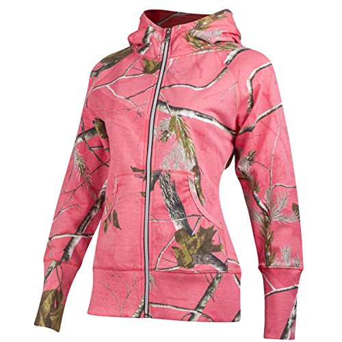 Realtree Girl Star Camo Sweatshirt (Medium, Sugar Coral/Brown) (Pink Sweatshirt Hoodie Camo)