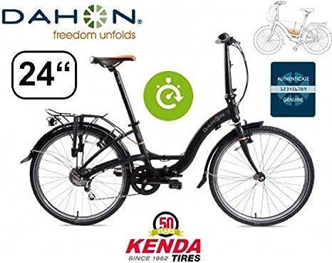 Dahon Bicicleta Plegable Briza D8 Shadow Incluye portaequipajes/61 ...