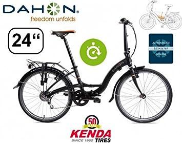 Dahon bicicleta plegable Briza D8 Shadow Incluye portaequipajes/61 cm/8gang/Bomba