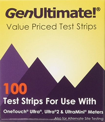 GenUltimate! 100-ct Test Strips for OneTouch Ultra, Ultra2 a