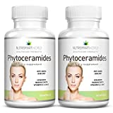 Phytoceramides Anti-ageing Rice-derived Extract 100mg. With Anti-oxidant Vitamins A, C, D and E for Skin Cell Rejuvenation and Hydration (Wheat & Gluten Free!) 2 month supply. 2 x bottles.